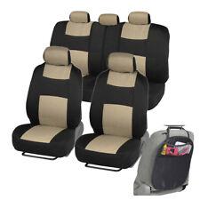 Car Seat Covers for Auto Beige Rome Sport Split Bench w/ Organizer Kick Mat