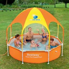 BESTWAY 2.4M 1688L INFLATABLE Splash in Shade FAMILY Play POOL SWIMMING SUMMER