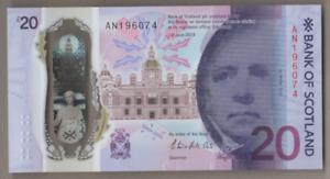 BANK OF SCOTLAND £20 [ AN 196074 ] 04/07/1960 OR 07/04/1960 FREEPOST UK UNCIRC