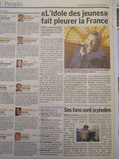 ARTICLE DU SOUVENIR DE: JOHNNY HALLYDAY - 07/12/2017 - LA FRANCE PLEURE JOHNNY -