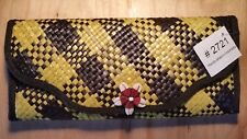 Wallet hand made in Indonesia ladies wallet with hand strap