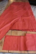 Nappe rouge bordeaux - Pur coton - 250 x 143 + 6 serviettes