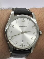 HAMILTON H385111 JAZZMASTER QUARTZ SAPPHIRE GLASS MENS 42mm SWISS MADE EXELLENT