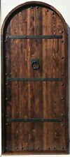 Rustic reclaimed lumber arched top door solid wood story book castle winery