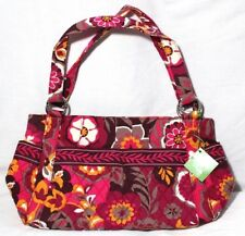 NWT Vera Bradley Stephanie Carnaby Pink Gold Brown Floral Handbag w/Many Pockets