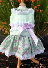 DREAM 0-7 YEARS  AUTUMN BABY GIRLS MINT  LILAC DROP WAIST SPANISH LINED DRESS