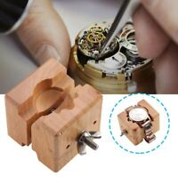 Adjustable Wooden Watch Case Movement Holder Watchmaker Clamp Watch Repair Tools