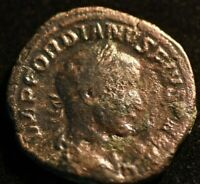 GORDIAN III DEPENDIUS IMPERIAL ROMAN COIN  - VG CONDITION - LARGE COIN