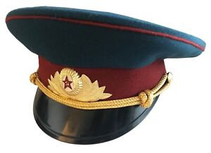 Soviet USSR Russian Military Army Officer Parade Uniform Visor Hat Peaked Cap