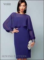 V1532 Vogue Sewing Pattern 1532 Designer Bellville Sassoon Misses Dress Cover-up