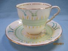 Vintage Royal Stafford England Bone China Hand Painted Cup & Saucer