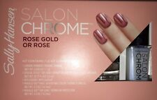 New Sally Hansen Lim Ed Salon Chrome 5PC Kit Miracle Gel Nail Polish - Rose Gold