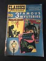 Classics Illustrated 3 Famous Mysteries #21 Sherlock Holmes, etc.