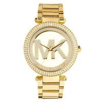 NEW MICHAEL KORS MK5784 Parker Pave Dial Gold Tone Ladies Wrist Watch