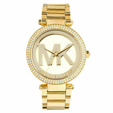 NEW MICHAEL KORS MK5784 Parker Pave Dial Gold Tone Ladies Wrist Watch