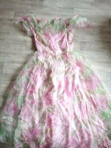 Kleid/Kostüm in lila/grün Gr 36/38