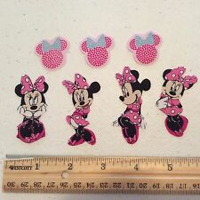Disney Minnie Mouse Fabric Iron On Appliques - style #2 pink dress