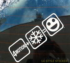 4 Motion Schnee Aufkleber 20 cm GR0ß Shocker OEM DUB 4 motion Aufkleber 88