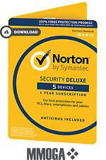 Norton Security 2018 - 5 Geräte 1 Jahr - PC/MAC/Android Internet Security - EU