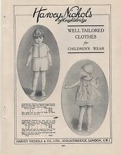1925 Advert for 'HARVEY NICHOLS OF KNIGHTSBRIDGE' + 2 ads on back