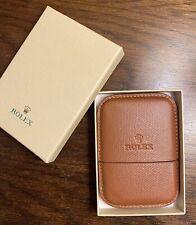 New Rolex Genuine Leather Luxury Business Card Holder Case Made In Switzerland