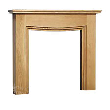 Electric Gas Oak Wood Timber Modern Fire Fireplace Mantel Mantle Surround Lights