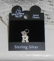 Disney Sterling Silver Charm Initial Letter R $18 retail New WDW Free Shipping