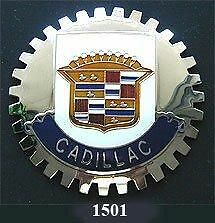 NEW Indoor/Outdoor Adhesive backed Cadillac emblem badge-Chromed Brass