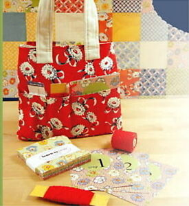 LEARN TO SEW QUILT CHARMING KIT + Tote Bag + Book +More