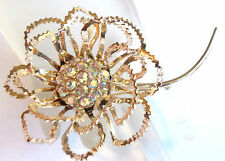 SARAH COVENTRY LARGE GORGEOUS VINTAGE FLOWER BROOCH ESTATE JEWELRY FAB!