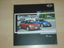 20013) BMW Mini Cabrio Cooper S Belgien Prospekt 2004