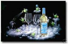 "Michael Godard-""SEVEN-7-HEAVENLY CHARDS""-White Wine-Chardonay-Napa-Fun-Art-G"