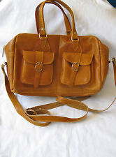"Egyptian Camel Leather Woman Purse Bag Light Brown Hand Made 11"" X 8"""
