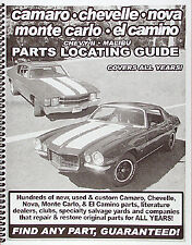 Find ANY El Camino part with this book - Nationwide directory of parts dealers