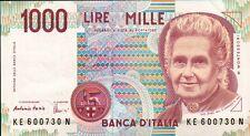 BANCONOTA ITALIANA DA 1000 LIRE M. MONTESSORI - 1BIS-19