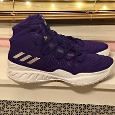 Adidas Crazy Explosive Boost Mens Basketball Sneaker Size 19 Purple White CQ1547