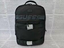 GUESS Racing Backpack MORITZ Canvas Rucksack Black Shoulder Laptop Bag BNWT R£79