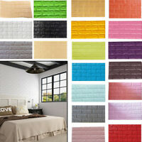10pc 3D Self Adhesive Tile Brick Wallpaper Embossed Wall Stickers DIY Home Decor