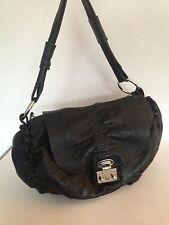 MODALU Ladies black leather bag / hand bag / shoulder bag