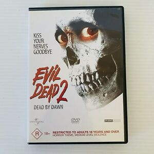 Evil Dead 2 - Dead By Dawn DVD Kiss Your Nerves Goodbye GUC FREE POST