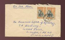 Gold Coast kadjebi clara matasellos en 6d par aéreo 1951 a GB