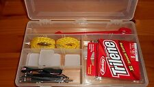Plano 3400 Size Fishing Kids or Adult Tackle Box - Trilene XL 8 lb Line & Tools