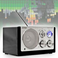 Designradio MP3 AUX Antenne Netzbetrieb Batterie BL Schwarz Designradio Kompakt