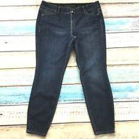 Lane Bryant Womens Jeans size 20 Dark Wash Slim Skinny Jeggings Cotton Stretch