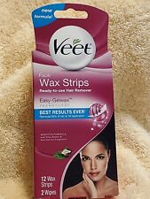 Veet face wax trips~ Ready-to-use Hair Remover. 12 wax strips, 2 wipes.read post