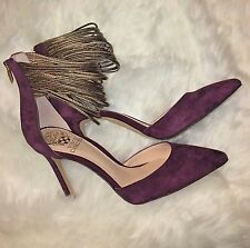 NEW $129 Vince Camuto Nayz Women's Suede Leather Sugar Plum Bronze Pump Heel 7.5