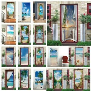Natural Scenery Door Sticker Wall Sticker Self Adhesive Removable Mural Decal
