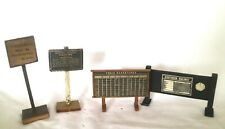 AC:1332: Vintage 0 Gauge Wooden railway Signs and Hoardings
