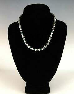 White Fox Creation: Sterling Navajo Pearls with AAA Quality Australian Moss Opal