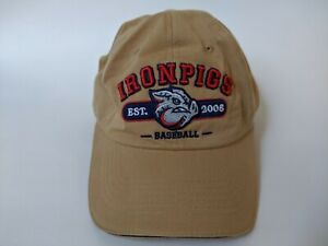 LEHIGH VALLEY IRON PIGS TAN BASEBALL CAP/HAT (PHILLIES AAA AFFILIATE) - NEW